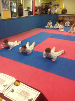 Kids Martial Arts in Nerang - Combined Martial Arts Academy Nerang - Little Dragons Patch Testing Photos and Info