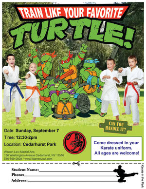 Kids Martial Arts in Five Towns - Warren Levi Martial Arts & Fitness - FIVE TOWNS WORKOUT IN THE PARK