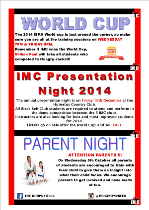 International Martial Arts Centres IMC News 25th September