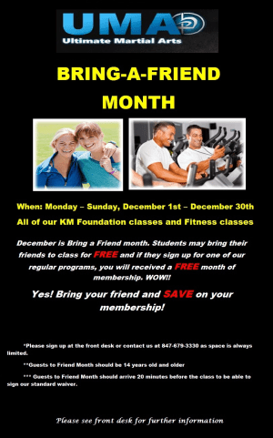 Kids Martial Arts in Chicago - Ultimate Martial Arts - Friend Month
