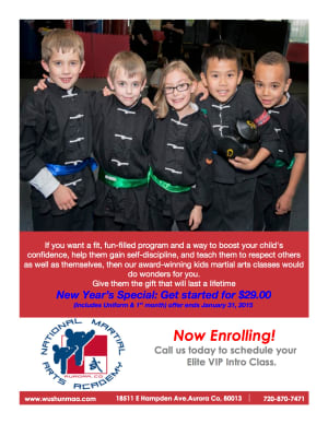 Kids Martial Arts  in Aurora - National Martial Arts Academy - New Year Special