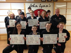 Kids Karate in Rhyl - John Lynns BBA - Spring 2015 Gradings