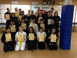 Kids Karate in Rhyl - John Lynns BBA - Latest Gradings