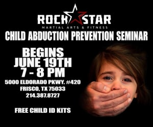Kids Martial Arts in Frisco - Rockstar Martial Arts and Fitness - Child Abduction Prevention Seminar in Frisco