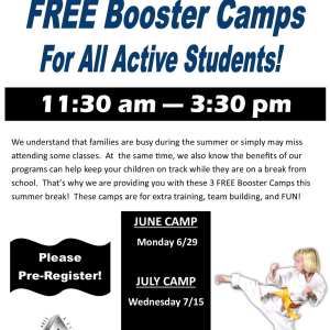 Kids Martial Arts in East Northport - Trigon Academy Of Martial Arts - June Booster Camp this Monday