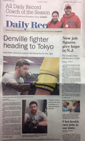 Kids Martial Arts in Rockaway - Pure Mixed Martial Arts - Pure MMA and Professor Andy Main in the news