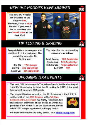 Kids Martial Arts in St Clair, Kemps Creek & Hoxton Park - International Martial Arts Centres - IMC News 6th August 2015
