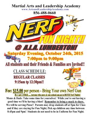 Arts and Leadership Academy NERF NIGHT LUMBERTON