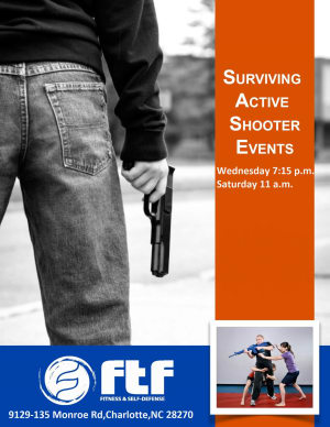 Kids Martial Arts in Charlotte - FTF® Fitness and Self-Defense - Surviving Active Shooter Events