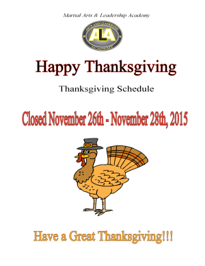 Arts and Leadership Academy HAPPY THANKSGIVING