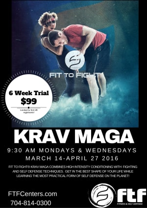 Kids Martial Arts in Charlotte - FTF® Fitness and Self-Defense - Beginner Krav Maga Trial at New Time!