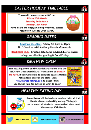 Kids Martial Arts in St Clair, Kemps Creek & Hoxton Park - International Martial Arts Centres - IMC News 23rd March 2016