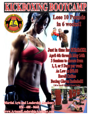 Arts and Leadership Academy KICKBOXING FITNESS BOOTCAMP