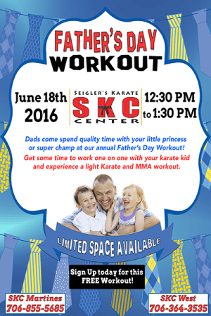 Kids and Teens Karate in Martinez - Seigler's Karate Center - Faher's Day Workout