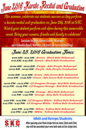 Kids and Teens Karate in Martinez - Seigler's Karate Center - SKC Martinez  Graduation Times