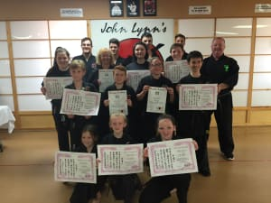 Kids Karate in Rhyl - John Lynns BBA - The coveted Black Belt results!