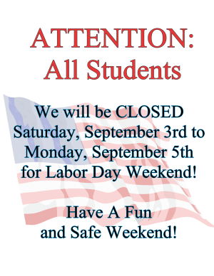 Arts and Leadership Academy CLOSED LABOR DAY