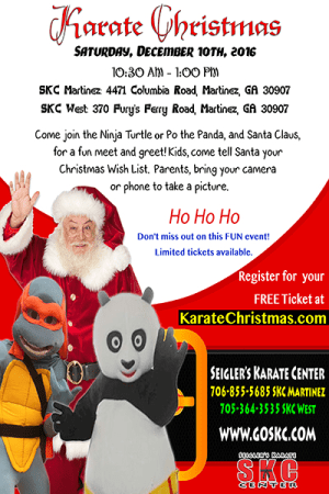 Kids and Teens Karate in Martinez - Seigler's Karate Center - Karate Christmas