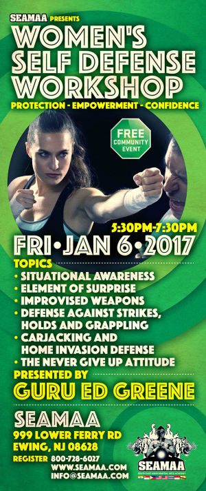Kids Martial Arts in Ewing - Southeast Asian Martial Arts Academy (SEAMAA) - Women's Self Defense Workshop (Jan 6, 2017)
