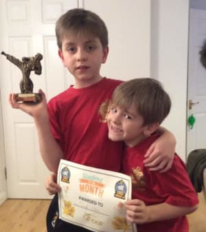 Kids Martial Arts in Kingston - Adapt Choi Kwang Do - Student of the month in Kingston