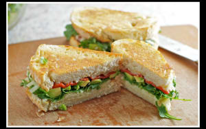 Group Fitness  in San Diego - Corebody Pilates Plus - [Recipe] Skinny Avocado & Roasted Vegetable Sandwich