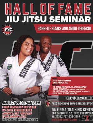 Kids Brazilian Jiu Jitsu in Chesapeake - Da Firma Training Center - Hall Of Fame Seminar with Hannette Staack and Andre Terencio