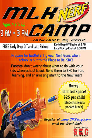 Kids and Teens Karate in Martinez - Seigler's Karate Center - MLK Nerf Camp