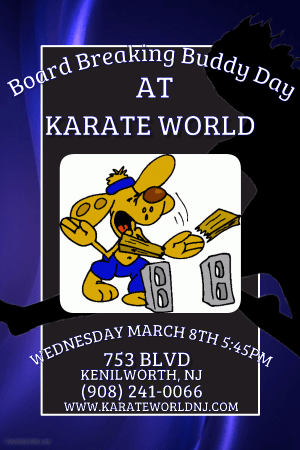 Kids Martial Arts in Kenilworth - Karate World  - March Buddy Day- Wednesday March 8th  545pm