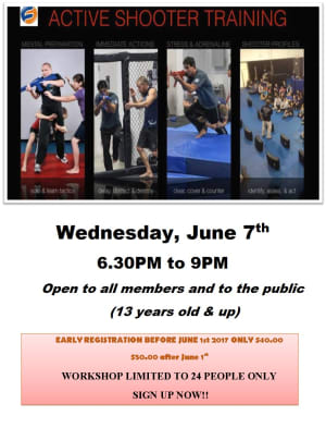 Kids Martial Arts in Chicago - Ultimate Martial Arts - ACTIVE SHOOTER SEMINAR JUNE 7TH 6.30PM-9PM