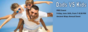 Kids Martial Arts in Bradenton - Ancient Ways Martial Arts Academy - Dads VS Kids FREE Annual Event