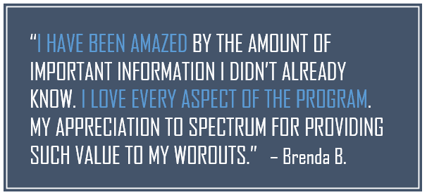 Brenda Buckley, Spectrum Fitness Consulting Testimonials
