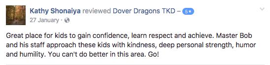 Kathy Shonaiya , Dover Dragons Testimonials