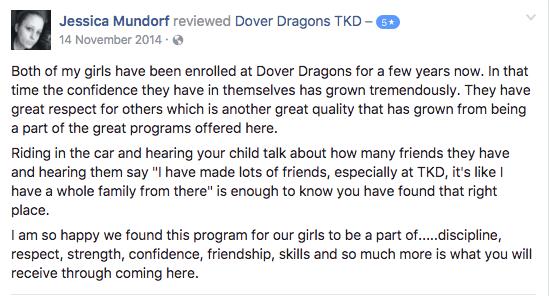 Jessica Mundorf , Dover Dragons Testimonials