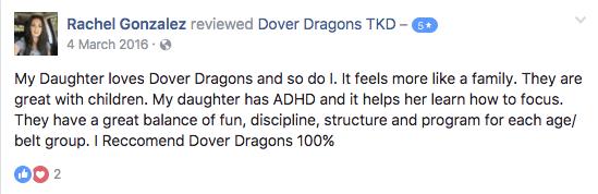 Rachel Gonzalez, Dover Dragons Testimonials