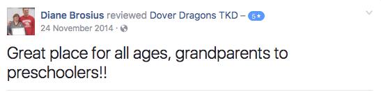 Diane Brosius, Dover Dragons Testimonials