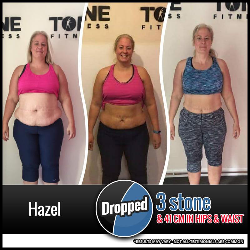 Hazel, Tone Fitness testimonials