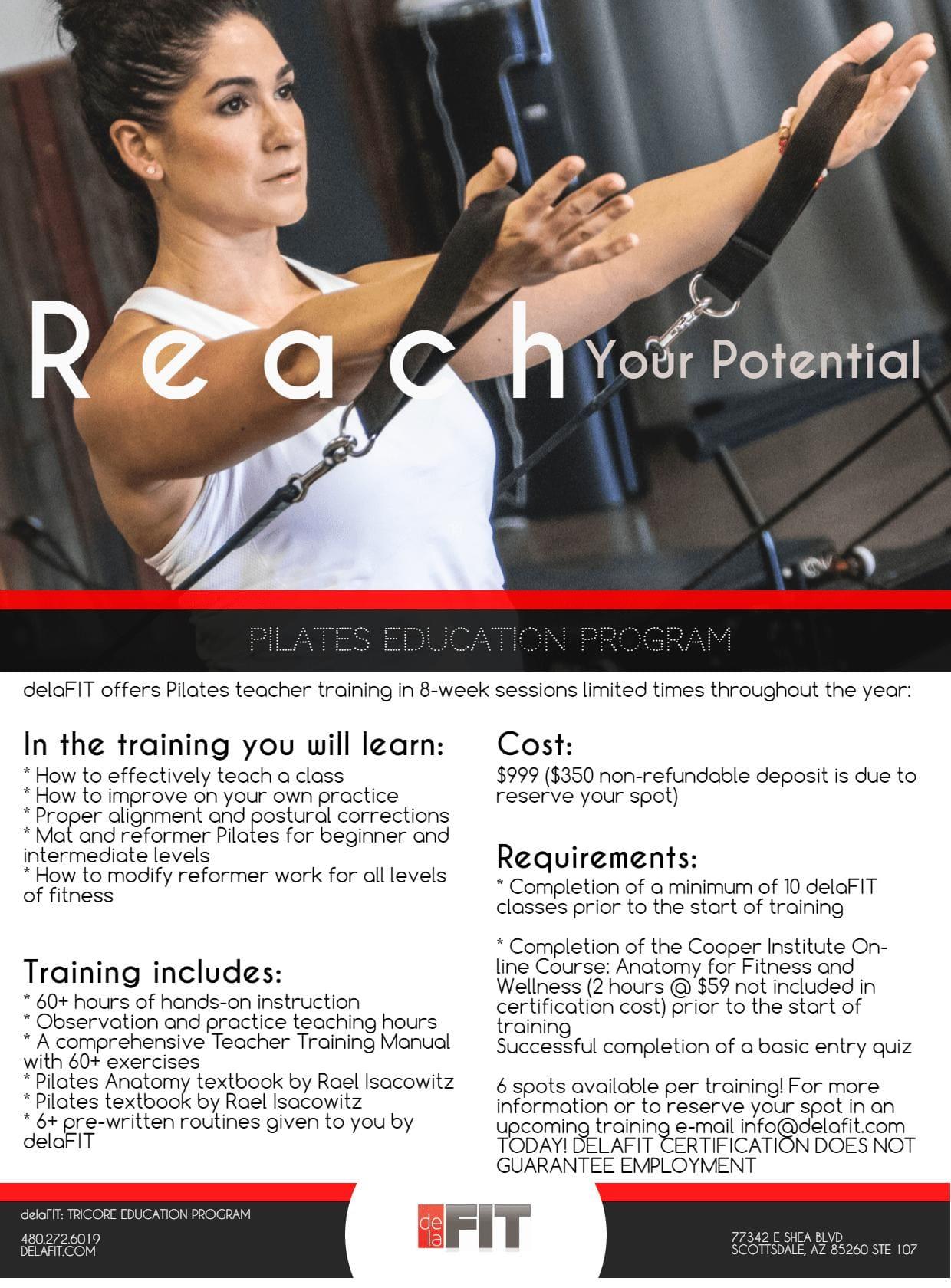 Pilates Education Program in Scottsdale - delaFIT