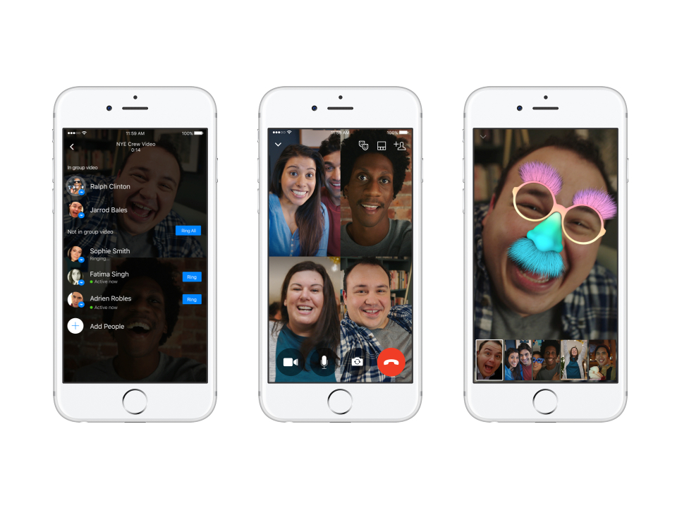 Group Video Chat in Facebook Messenger