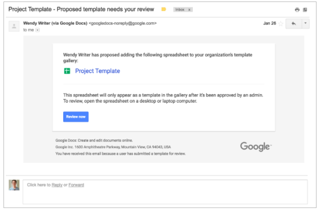 Manage custom templates in scalable way in Google Docs, Sheets, slides, Forms