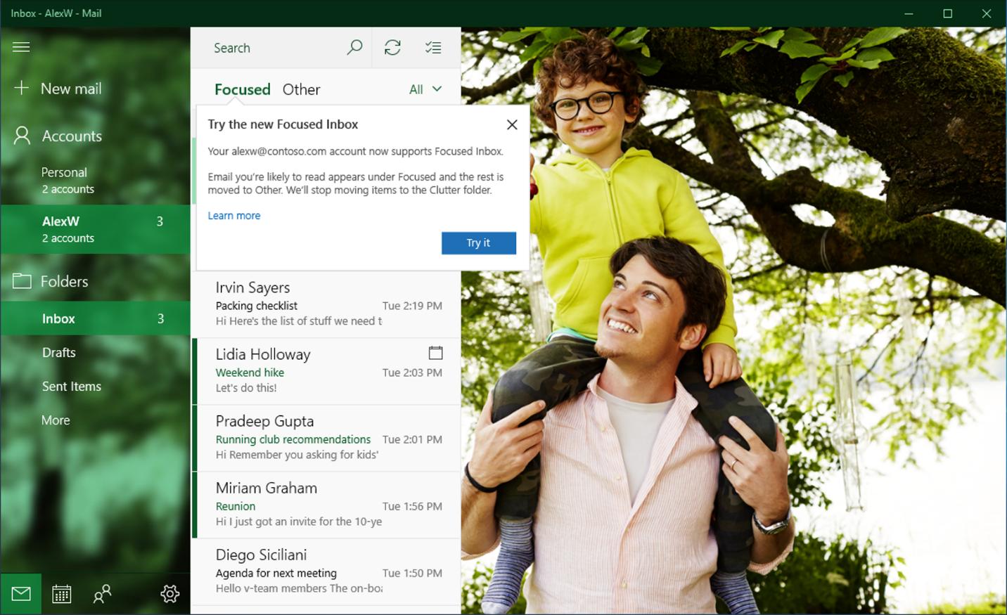 Focused Inbox in Outlook.com