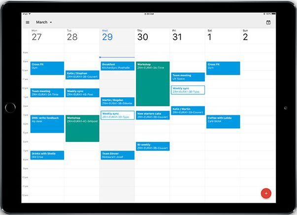 Google Calendar iPad app
