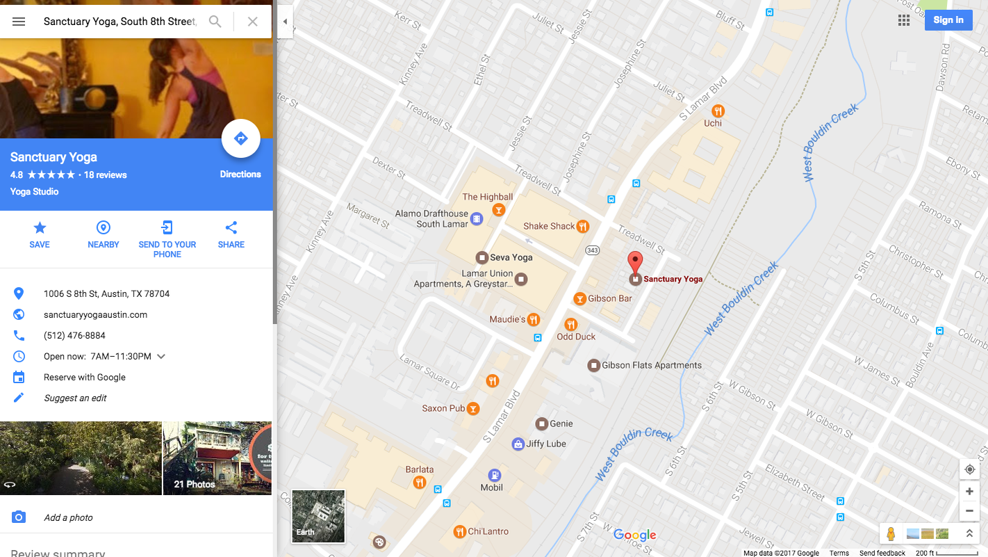 Reserve Fitness Classes with Google Maps