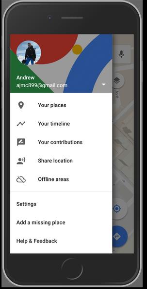Timeline on Google Maps on iOS