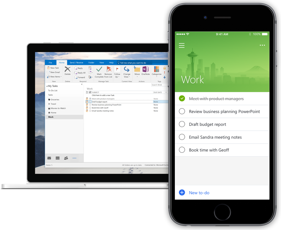 Microsoft To-Do and Outlook Tasks integration