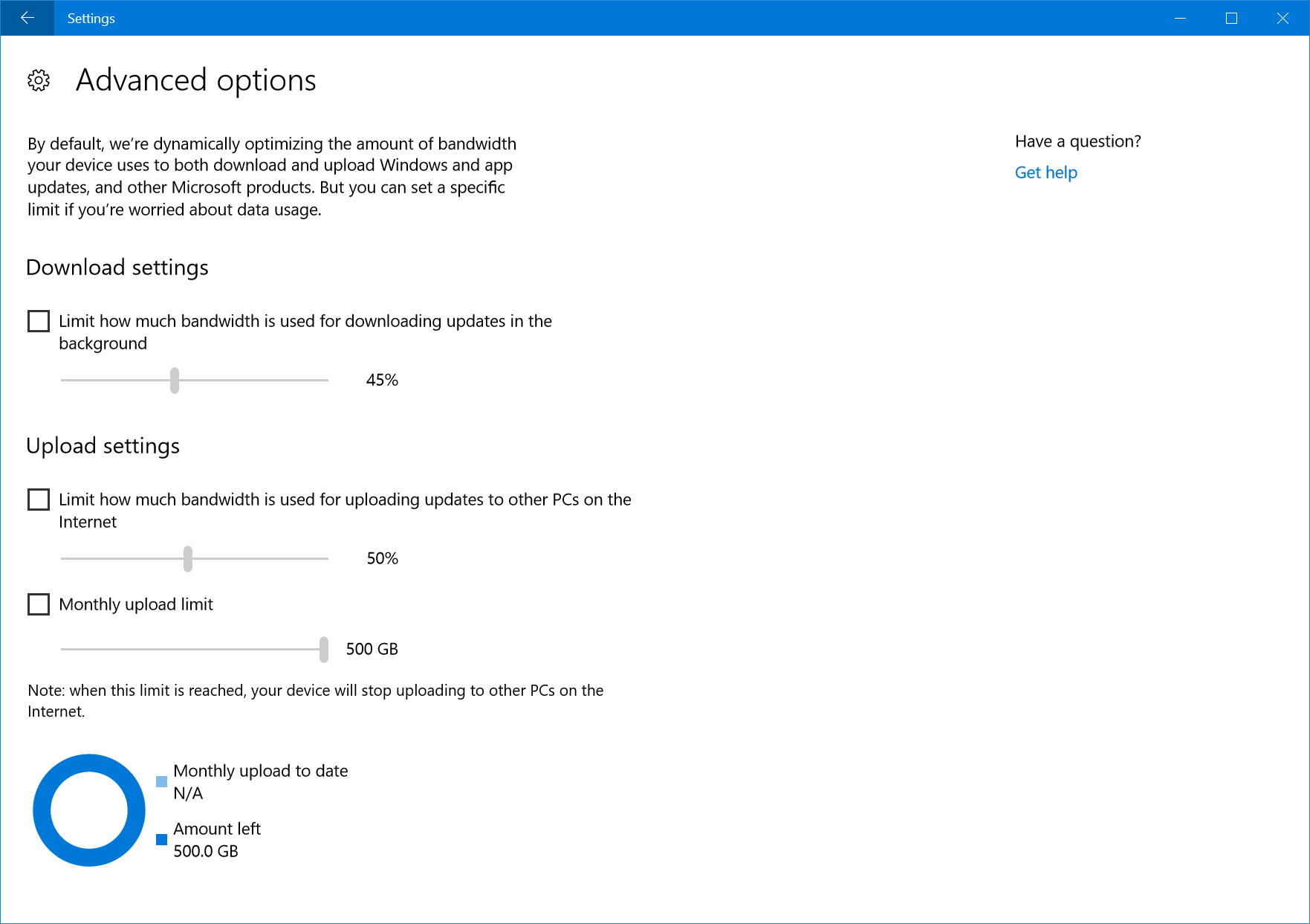 windows 10 fall creators update delivery optimization advanced options