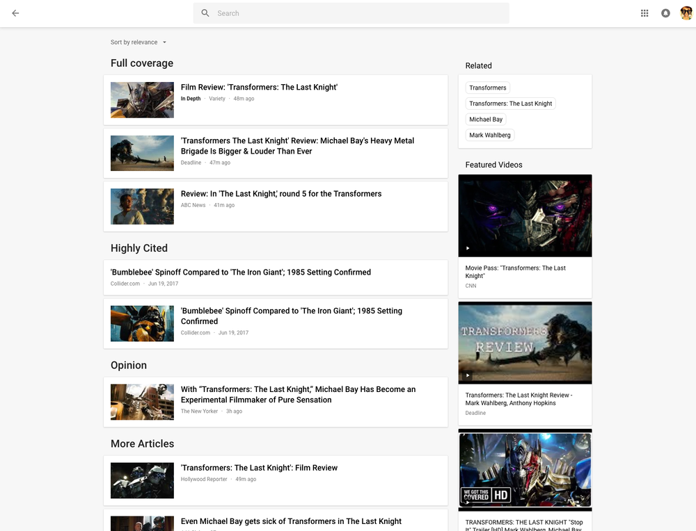 Google News Story Cards Full Coverage pagwe