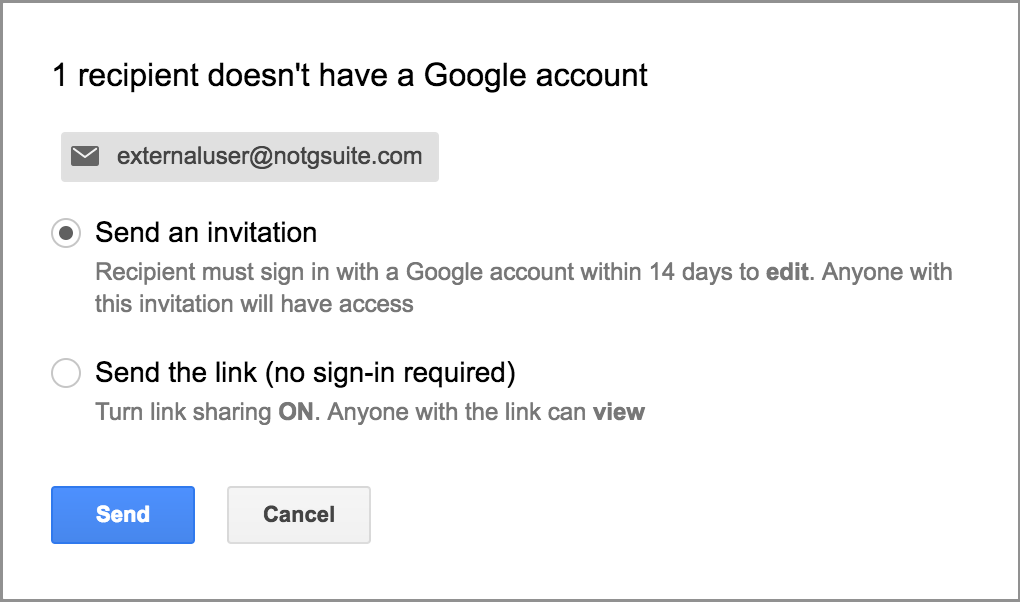 G Suite third-party file sharing settings