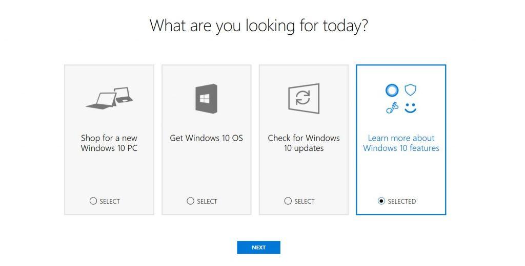 Windows Help Me Choose