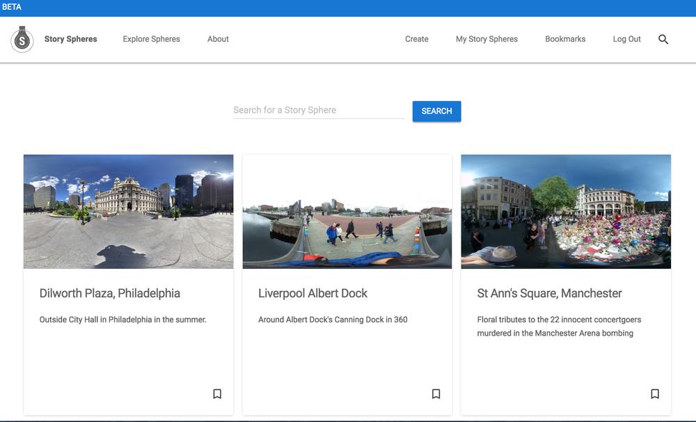 Google News Lab Story Spheres
