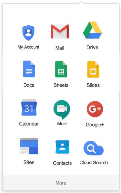 Google App Launcher new layout